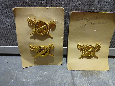 Lot of 3 US Army Inspector General Pins