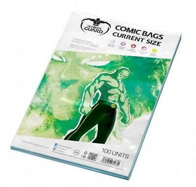 Ultimate Guard pack 100 pochettes comics Current Size 175x268mm comic bags 71670