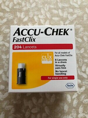 Accu Chek FastClix Lancets - 204 Lancets, Long Expiry, Brand New Sealed Box