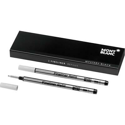 Montblanc Fineliner Refills (B) Mystery Black 105170 – Refill Cartridge with...