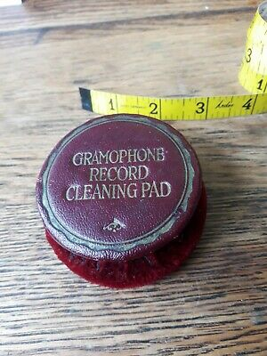 Gramaphone 78s vintage gramaphone record cleaning pad in good condition.