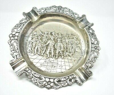 Vintage Silverplate Ashtray Holandesa (Arg) Lia Maritima 1921-1971