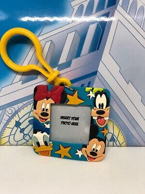 Disney Mickey Mouse And Friends Photo Frame Keyring Bag Clip Charm