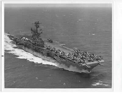 Original Photo Uss Intrepid Underway