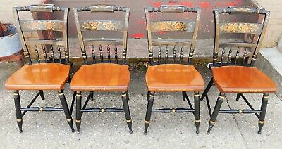 Set of 4 Signed HITCHCOCK Dining Room Side Chairs Chair s Beautiful Condition A+