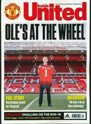 INSIDE UNITED Official Manchester Utd MAGAZINE MAY 2019 brand new mint condition