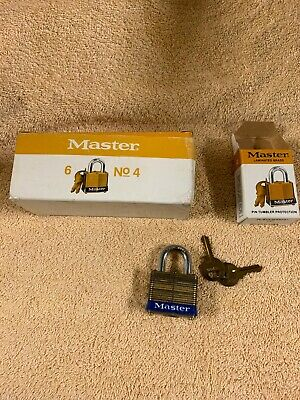 Vintage Steel Master Padlocks Company: Qty 5 Old New Stock