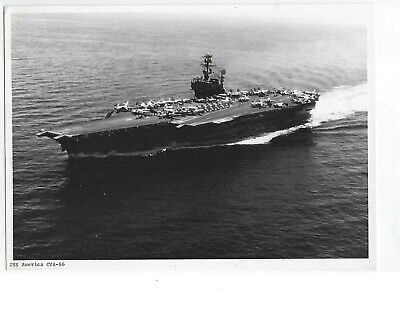 Original Aircraft Carrier Photo Uss America Cva-66