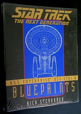 new/sealed Star Trek: TNG USS Enterprise Blueprints: complete set 13 prints+book
