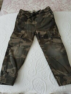 Boys Camo Trousers, Age 3-4, Purchased From Primark, In Good Condition