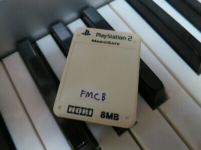 FMCB installed on cream white PlayStation 2 Memory Card Free Mcboot PS2 homebrew