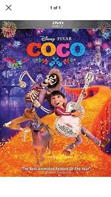 Coco (DVD Only, Disney Pixar, 2018, Widescreen) Free Shipping.