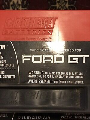 2005 OEM Ford GT RedTop Starting Battery Optima Batteries 5G7Z-10655-AA