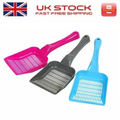 Cat Kitten Plastic Litter Tray Scoop Spoon Waste Scooper Poop Shovel Spade PINK