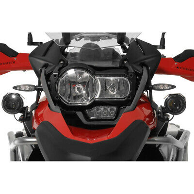 Touratech - LED Auxiliary Headlights Fog / Full Beam Silver BMW R1200GS 2013-
