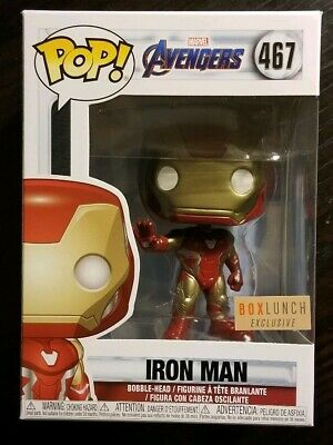 Funko Pop - Marvel Avengers End Game - IRON MAN - Box Lunch Exclusive  In Hand