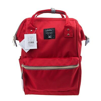 Red Official Anello Japan Unisex Fashion Backpack Rucksack Diaper Travel Bag