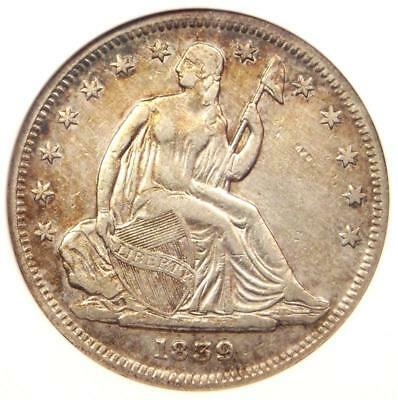 1839 No Drapery Seated Liberty Half Dollar 50C Coin - Certified ANACS XF Details