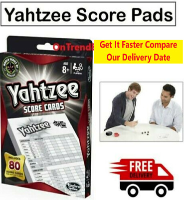 YAHTZEE Score Cards Pad - 80 Game Cards Refill Milton Hasbro Gaming