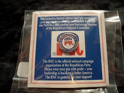 2002 Republican Lapel Pin NIP