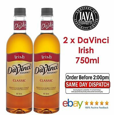2 x DaVinci Classic Irish Cream Syrup 750ML