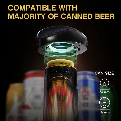 Portable Beer Foamer Quick Automatic Sonic Fresh Beer Foamer Bubbler For Cans