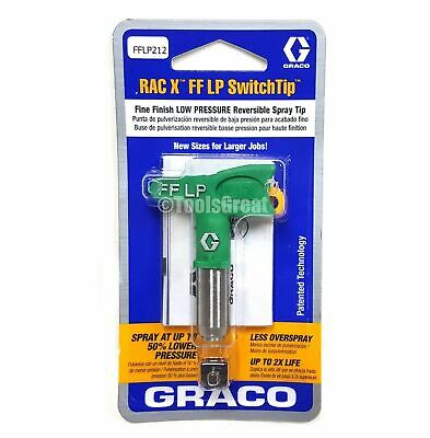 Graco Rac X FFLP 212 Fine Finish Paint Spray Tip Green Size 212, NEW