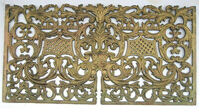 1880'S Dawson Bros. Antique Ornate Cast Iron Gas Fireplace Lower Summer Cover