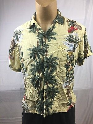 e061bc71e Hawaiian Reserve Collection Mens L Hawaiian Shirt Made In Hawaii Rayon Tiki