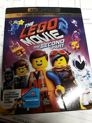 The Lego Movie 2 The Second Part 4K Ultra Hd Blu Ray 2 Disc Set + Slipcover Slip