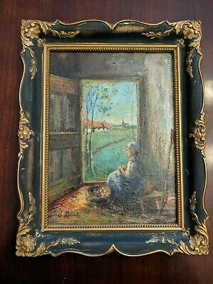 Antique Dutch Listed Artist Jan Brink Oil Painting 1885-1966 Impressionist style