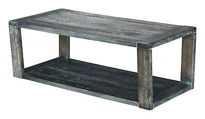 Industrial Country Farm House Western Coffee Table, Grey Gray, Wood, 16155