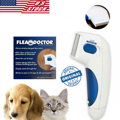 Electric Head Lice Nit Comb Flea Doctor Removal For Dogs & Cats Pets Brush US