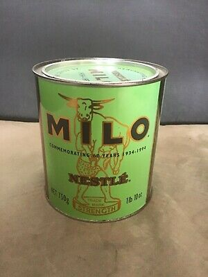 Milo tin commemorating 60 years