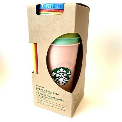 New Rare Starbucks Color Changing Cold Cups Tumblers 5 Pack Venti Reusable