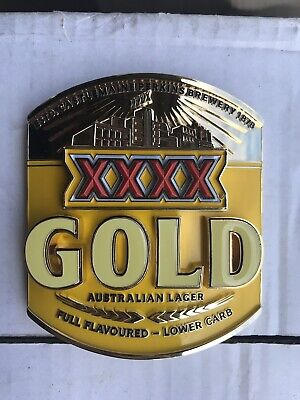 XXXX Gold Beer Tap Badge