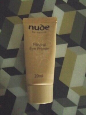 Nude  By Nature Mineral  Eye  Primer -20 Ml= Sealed Tube=Apply For All Day Wear