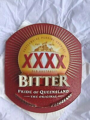 BRAND NEW XXXX BITTER Beer Tap Badge,  die cast metal collectable