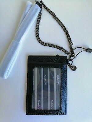 Mimco black CLASSICO LANYARD card wallet holder (RRP: 90.00 Aud)