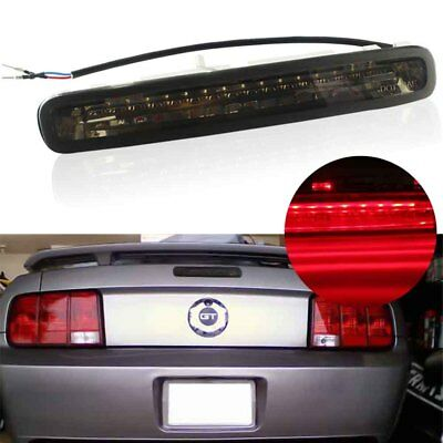 Smoked Lens Brilliant Red LED Third 3rd Brake Lights for 2005-2009 Ford Mustang