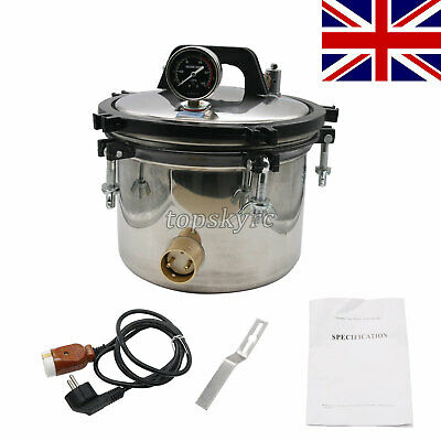 12L Pressure Steam Sterilizer Autoclave (Inner 8L) Anti-Burning Dual Heating tUK