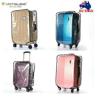 "Transparent Waterproof PVC Travel Luggage Protector Suitcase Cover 20""-30"""