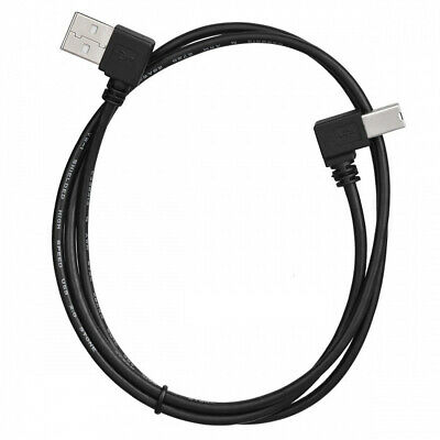 B Male Angled 90 Degree Printer Cable 50cm 100cm to USB 2.0 A Male