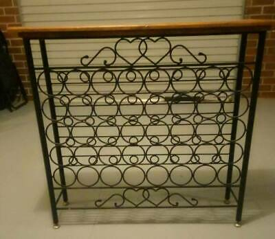 Free Standing Wine Rack with Heart Detail - 40 bottle storage
