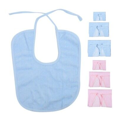 Large Disposable Adult Bibs Plastic Clothing Protector Eating Dental Dining
