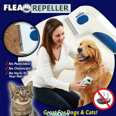 Flea Electric Doctor Flea Comb-Great for Dogs & Cats Pet Brush Anti Tick Control