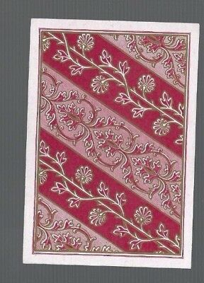 Playing  Cards1 ANTIQUE SQ CORNER BANDS OF FLOWERS & FOLIAGE GOLD DETAIL SQ61