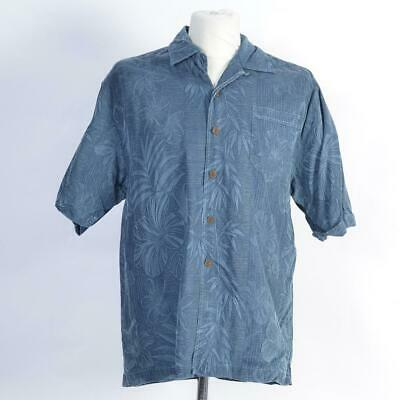 Jamaica Jaxx 100% Silk Hawaiian Beach Shirt | Blue | Size Medium M
