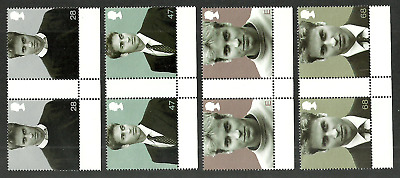 Gb 2003 Royalty Prince Williams 21St Birthday Gutter Pairs Set Mnh