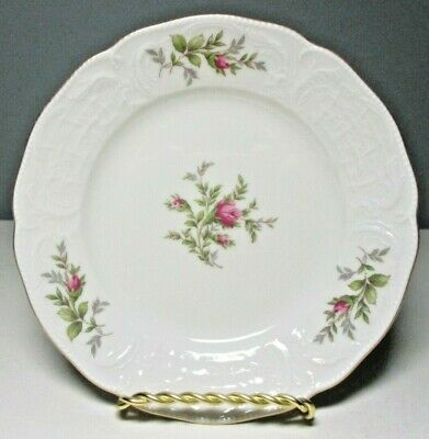"ROSENTHAL Classic Sanssouci 6 7/8"" DESSERT/PIE PLATE ~ Pink Roses, Gold Trim"